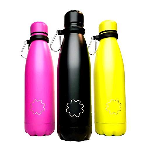 REUZE TRIPLE Botella de agua de aislamiento, botella térmica 500ml Ac