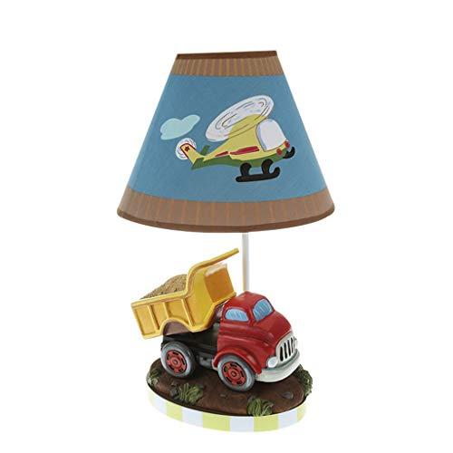 ZWeiD Children's Desk Lamp, rode auto Cartoon Aircraft Printing lampenkap Table Lamp Energy Saving Bescherming van de ogen Night Light 23 * 23 * 39cm Verlichting tafellamp (Color : A)