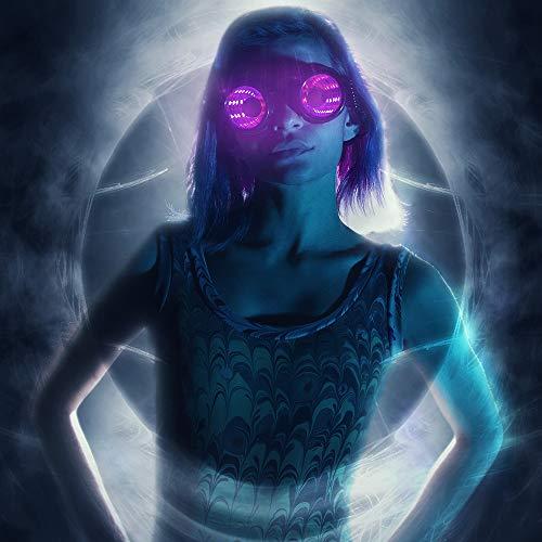 GloFX Pixel Pro Infinite Portal Goggles [350+ Epic Modes] - Programmable Rechargeable Light Up EDM...