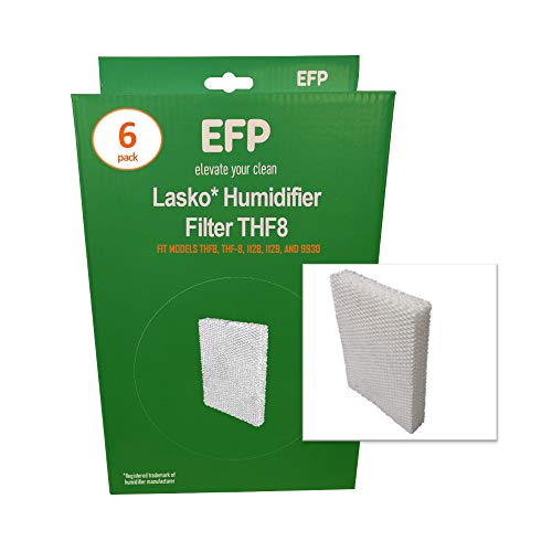 EFP Humidifier Filters for Lasko Natural Cascade THF8 THF-8 1128, 1129, 9930 Model Humidifiers Replacement Wicking Filters | Includes 6 Aftermarket Filters