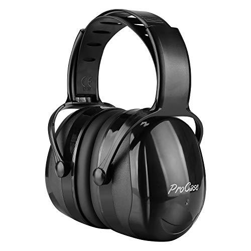 ProCase Casco Insonorizacion, Protector Auditivo SNR 36 dB con Diadema Ajustable Anti Torsión, Orejera Anti Ruido Profesional Cancelación de Ruido para Caza Disparo Estudiar -Negro ⭐
