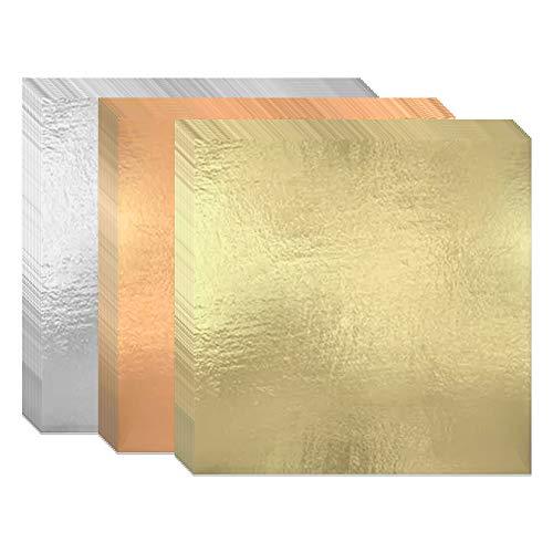 300 Blätter Blattgold Imitation 16x16cm Goldblätter Blattgold Blattkupfer Blattsilber zum Basteln, Gold Leaf für Kunst, Vergoldung Handwerk, Dekoration, Möbel, Makeup Health & Spa(3 Farben)