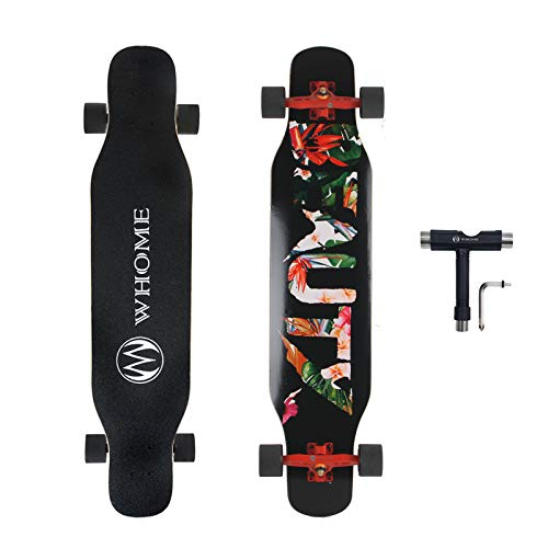 WHOME PRO Dancing Longboard Complete for Adults and Beginners - 42 Inch Dancing Boarding Skateboard for Dancing Freestyle Cruising Carving 8 Layer Alpine Hard Rock Maple Includes T-Tool