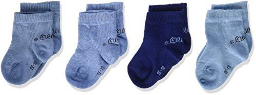 s.Oliver Socks Unisex Baby S20424000 Socken, Blau (Sky Blue 0037), 15-18 (Herstellergröße: 15/18) (8er Pack)