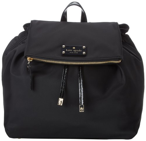 kate spade new york Nylon Black Backpack,Black/Cream,One Size