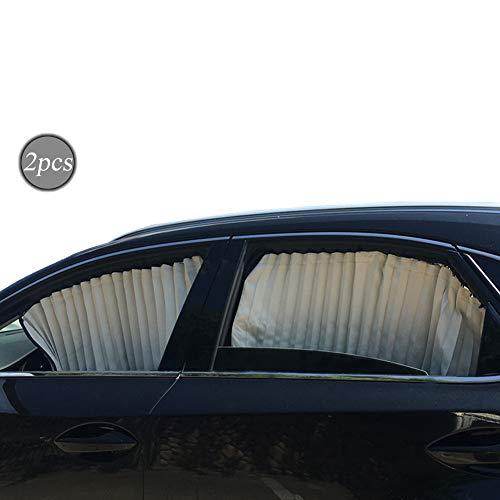 ZATOOTO Sonnenschutzrollo Auto (2 Stück), Sonnenschutz Auto Vorhang Zum Blockieren Von UV-Strahlen und Zum Schutz Der Privatsphäre, Verbessert, Verdickt,Silber