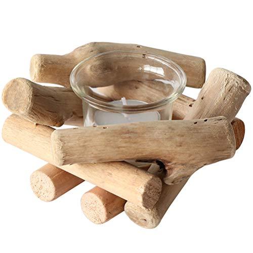 Teelichthalter Holz Kerzenhalter Windlicht Teelichter für Zuhause Bar Hochzeit Party Dekoration