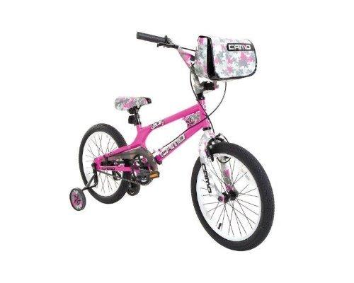 Dynacraft Decoy Girls Camo Bike, 18-Inch, Pink/Black/White