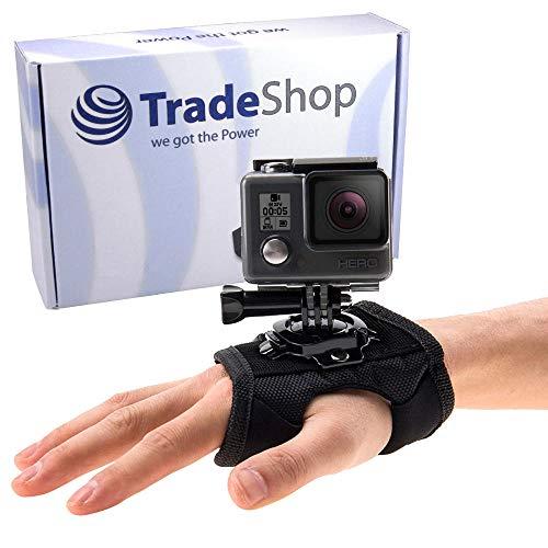 Trade-Shop 360° Armband Handgelenk Halterung für GoPro Hero 5, Hero 6, Hero 7, Hero 2018 Action-Kamera/Xiaoyi Actionpro X7 HD Pro - Handschlaufe