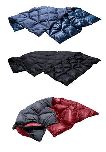 YETI Kiby+ Wash+Care Kit Daunendecke Rot Blau Schwarz Duvet Reisedecke Kissen, Farbe:Schwarz