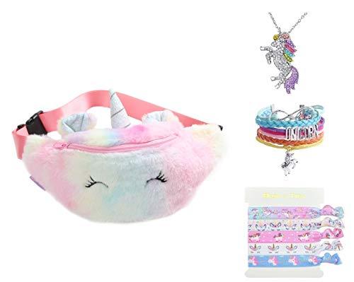 TIGOR – Mochila de unicornio con diseño de unicornio, mochila 3D de unicornio, mochila suave con arco iris, regalo para…