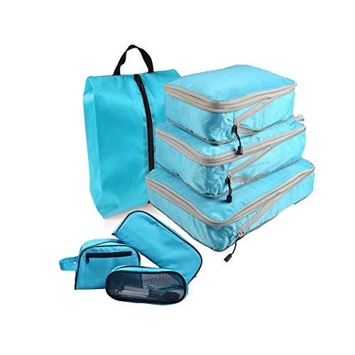 Wxianmy Juego de 7 bolsas de almacenamiento multifunción de viaje, bolsa de almacenamiento portátil para hombres y mujeres, regalo de viaje a casa