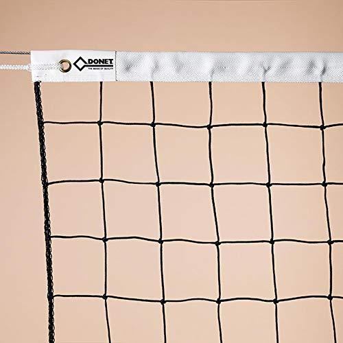 DONET - Volleyballnetze in Schwarz, Größe Länge 9,50 m x Höhe 1,00 m