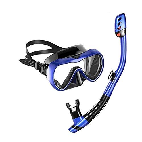 Traje de buceo snorkel, máscara anti-niebla de media cara del tubo respirador, gafas a prueba de fugas for hombres y mujeres, utilizado for Máscaras Natación snorkeling y el buceo con escafandra Másca