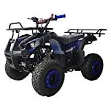 X-PRO Kids ATV 4 wheelers for Sale 125cc ATV Quad Four Wheelers Youth ATV 4 wheelers with Remote Control,Big 16'' Tires(Blue)