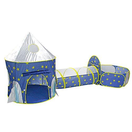 SSRSHDZW Kinderzelt Tunnel 3 in 1 Pop Up Zelt Kleinkinder Kriechtunnel Spielhaus Ballgrube Klappzelt Babyspielzeug Geschenke Kinder Mädchen Jungen Innen- Und Außenbereich