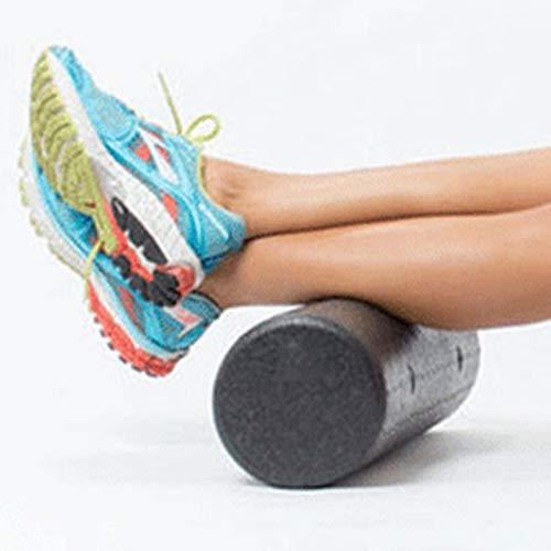 CamKpell Extra Feste Yoga-Säule EPP-Schaumstoffrolle mit hoher Dichte Muskel-Rückenschmerzen lösen Yoga-Massage aus Myofascial Release -Black 30X15Cm -30x15cm