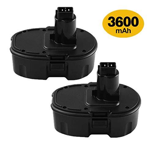 2 Packs 18V 3.6Ah DC9096 Battery Replacement for Dewalt 18V Battery XRP DC9096 DC9098 DC9099 DE9098 DE9503 DW9095 DW9096 DW9098 Cordless Power Tools