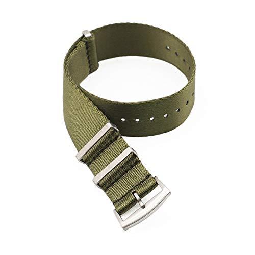 DXNXLLY Duradero Premium Quality Herringbone 20mm 22mm Cinturón de Seguridad Banda de Reloj Nylon Nylon Strap for 007 James Bond Military Striped Reemplazo Reloj Herramienta de Correa de Reloj
