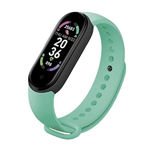 xllLU M6 smartwatch reloj inteligente GPS hombres mujeres deporte brújula fitness eart tarifa monitor reloj inteligente cuero correa 20mm