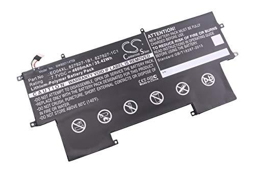 vhbw Batería Recargable Compatible con HP Elitebook Folio G1 W8Q07AW, G1 X2F46EA, G1 X2F49EA Notebook (4600 mAh, 7,7 V, polímero de Litio)