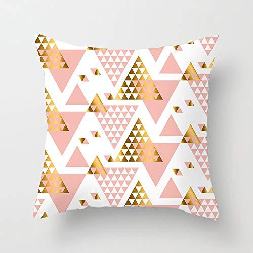 PPMP Federa da tiro in Oro Rosa Triangolo Motivo Floreale Fodera per Cuscino Decorazione Divano per casa Fodera per Cuscino Federa A4 45x45 cm 2pc