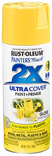 Rust-Oleum 249092 Painter's Touch 2X Ultra Cover, 12-Ounce, Sun Yellow