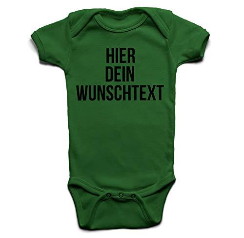 Baby Body mit Wunschtext - Selber gestalten mit dem Amazon Designertool - Tshirt Druck - Shirt Designer Babybody Strampler Kelly 6-12 Monate
