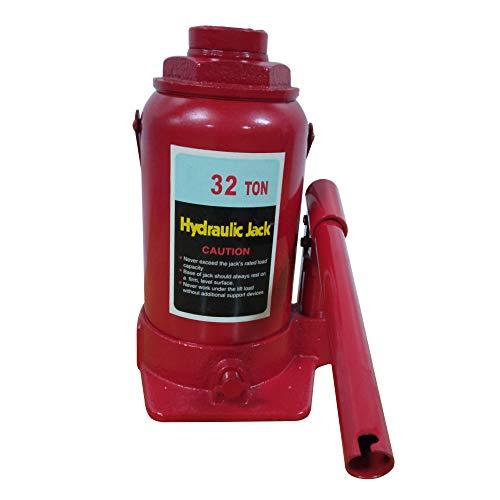 32 Tons Capacity Hydraulic Bottle Jack Heavy Duty Hydraulic Welded Bottle Jack Red