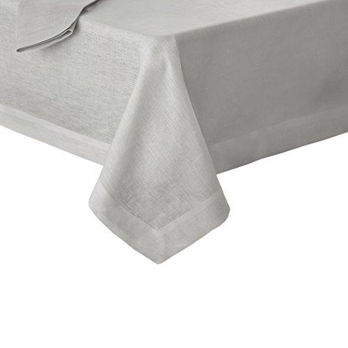 Villeroy and Boch La Classica Luxury Linen Fabric Tablecloth, 70' x 146', Dove Gray