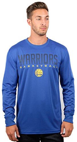 Ultra Game NBA Golden State Warriors Mens Active Long Sleeve Tee Shirt, Team Color, Medium