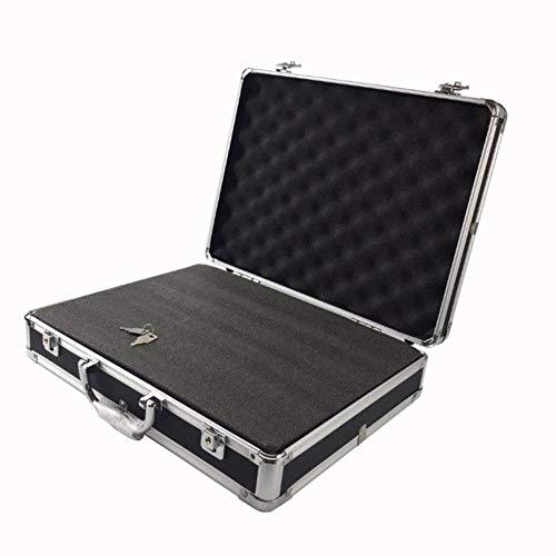 K-ONE Werkzeugkiste Werkzeugkiste Werkzeugkiste Werkzeugkoffer, Werkzeugkoffer, Sicherheits-Werkzeugkasten, stoßfest, mit Schaumstoffeinlage, modisch, hochwertig, schwarz, 37x28.5x8cm