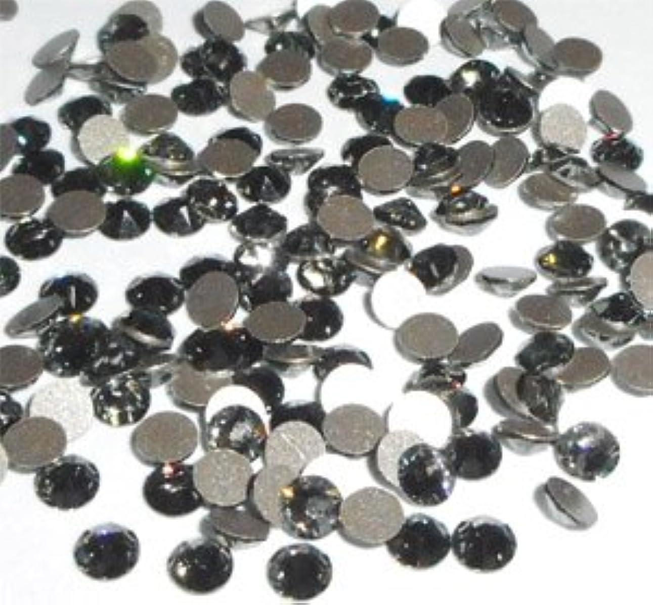 決めます突進再生スワロフスキー ラインストーン #2058 ブラックダイヤモンド(SS5)100粒