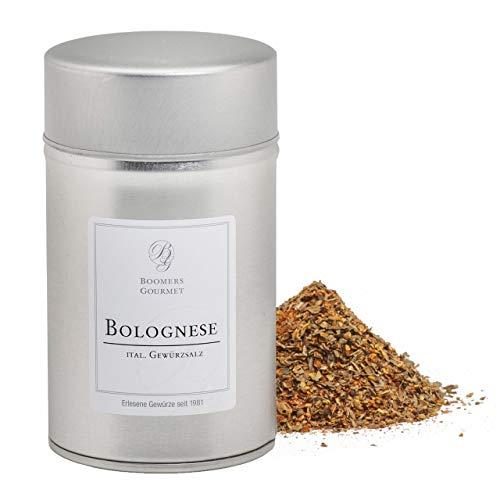 Boomers Gourmet - Bolognese Gewürz I Italienische Spaghetti Bolognese Gewürzmischung - Gewürzdose 11,5 cm - 130 g