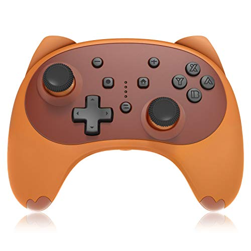 KINGEAR Controller für Nintendo Switch/Switch Lite, Geschenke für Frauen Wireless Controller Remote Gamepad für Nintendo Switch Spiele Game Controller, Cartoon Kitten Switch Pro Controller (Braun)