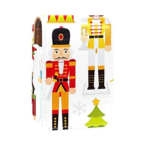 Astuccio per rossetto mini borsa da esterno Porta rossetto portatile da viaggio con rossetto con il trucco a specchio cracker di noci di Natale.