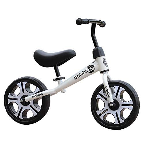 ERLAN Bicicletas sin Pedales Bicicletas Blancas Baby Balance para Niños Chicas 2 3 4 5 6 Años, Bicicleta Superligera para Montar Sin Pedal con Ruedas de 12 Pulgadas, Jinetes Principiantes