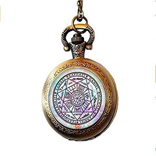 Seven Arch Angels Taschenuhr Halskette Schutz Amulett Erzengel Michael Schmuck Engel Schmuck Kunst Bild Schmuck