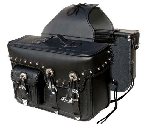 Oxide Ltd New-Oxid schwarz Rider groß Tek Leder Motorrad Packtasche Bike Panniers Motorrad Satteltaschen Reisetasche