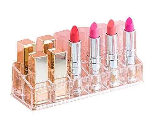 Belle baie de stockage à lèvres/boîte de rangement à lèvres utile / 12 cellules