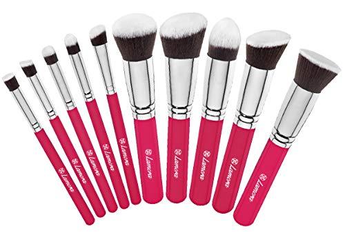 Kabuki Pinsel Set - Make Up Foundation Kosmetik Pinselset - 10 Teiliges Premium Schminkpinsel Set (Puderpinsel Foundation Rouge Pinsel Inkl.) - Ideal für Puder, Cremige und Flüssige Makeup Produkte -