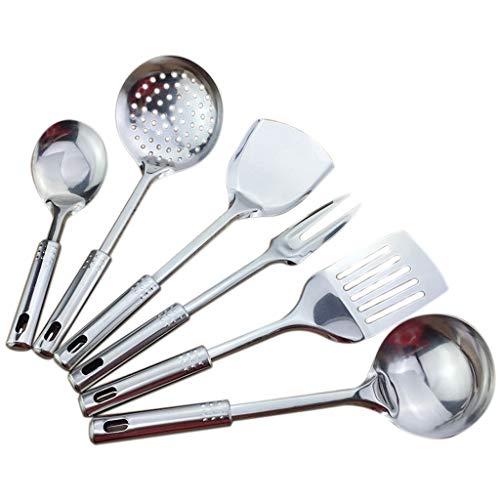 JYDQM Conjunto de Utensilios de Cocina de 6 Piezas Herramientas de Cocina de Acero Inoxidable Herramientas de Cocina Utensilios de Cocina Accesorios de Cocina Porridge