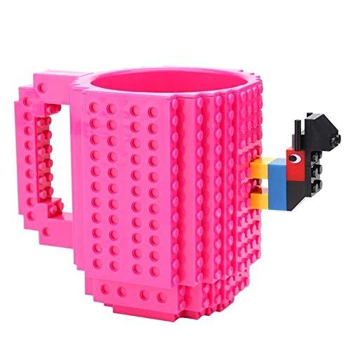 Tazas Personalizadas 1 Unidad De Taza De Café De 12 Oz, Taza De Ladrillo Incorporada, Taza De Bloque De Construcción, Taza De Rompecabezas De Bloques Diy, Taza De Bebida, Taza Para Beber 11 Colores