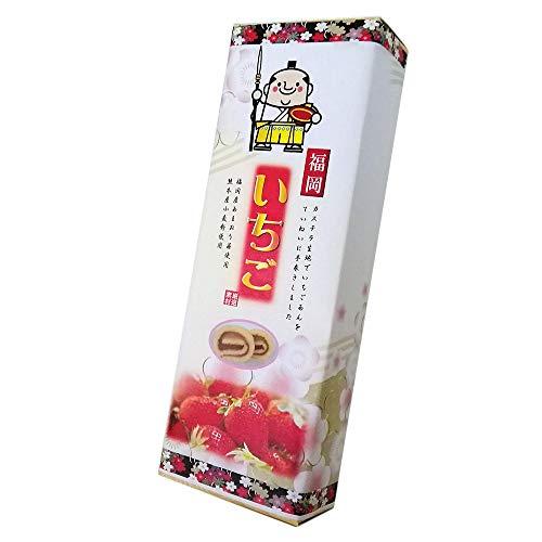 福岡あまおう苺あん巻 細箱×1箱 イソップ製菓 カステラ生地でいちごあんを手巻きにした郷土菓子