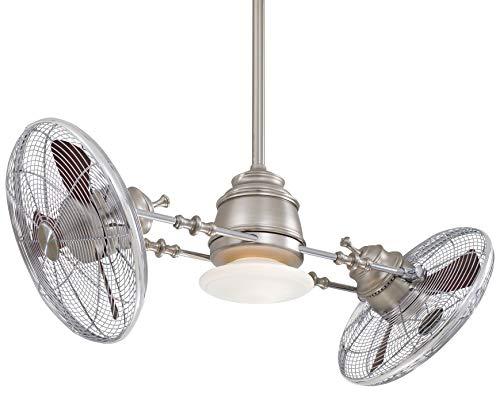 Minka-Aire F802-BN/CH Vintage Gyro Ceiling Fan, 42'