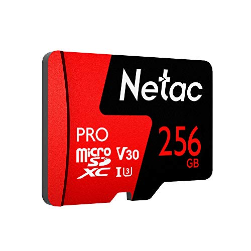 Docooler Netac 256GB Micro SDXC TF Karte Speicherkarte Datenspeicherung V30 / UHS-I U3 Hohe Geschwindigkeit bis zu 98MB / s