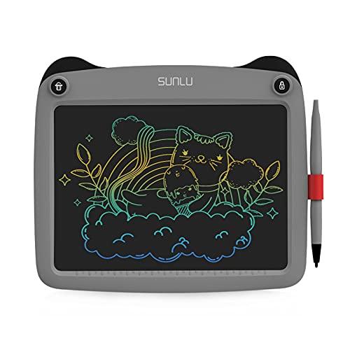 SUNLU Tavoletta LCD per scrivere e scrivere, ideale come regalo per bambini e adulti, per ufficio, scuola, casa (9 pollici) colore: Grey