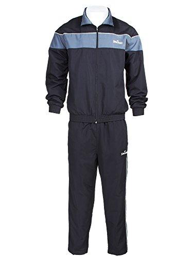 Spalding Mens Athletic Jacket and Pants Sports Training Track Suit Set Black X Large