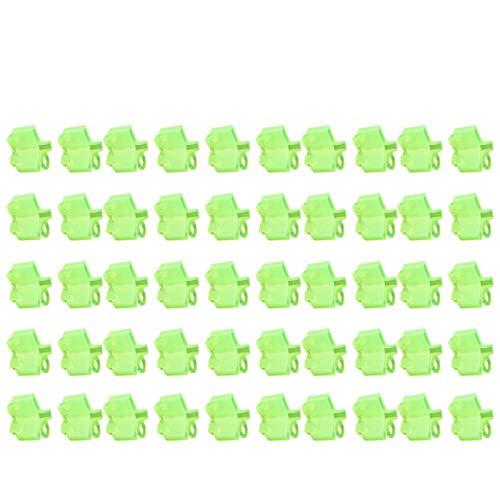 Emoshayoga Schutzhülle für Drillinge in Innenräumen Grüner Hakenschutz Schutzhülle für Fluoreszierende Drillinge zum Angeln
