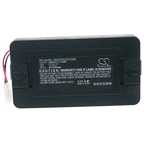 vhbw Batería reemplaza Rowenta RS-RT900866 para aspiradora, robot de limpieza (2600mAh, 14,4V, Li-Ion)